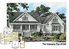 BRAND NEW PLAN - The Coleraine 1335!  Charming small home design with country kitchen and plenty of storage space! 1,905 sq. ft. http://www.dongardner.com/plan_details.aspx?pid=4610 #HomeDesign pantri laundri