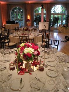 Bernardo's Flowers Inc.: Wedding Centerpiece Ideas (Red, Hot Pink & Ivory)