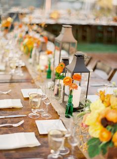 Oh how I wish I could have long tables at my wedding. Sigh.
