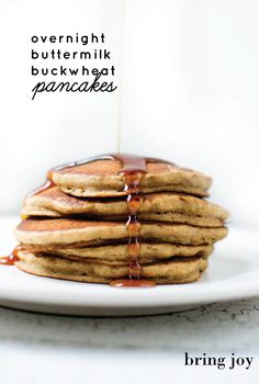 overnight buttermilk buckwheat pancakes // bring-joy.com #vegan #glutenfree