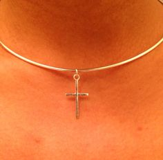 Cross chocker, cross necklace, Celebrity Necklace, , Bridesmaid Gift, Maid of Honor Gift on Etsy, $34.99