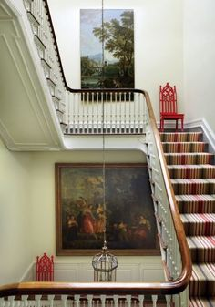 Traditional Staircase/Hallway by Thomas Jayne Studio in Philadelphia, Pennsylvania