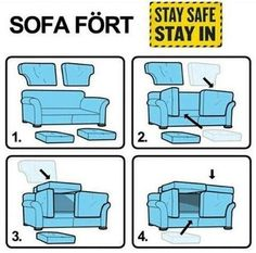 The safest way to build a sturdy sofa fort. Who knew?