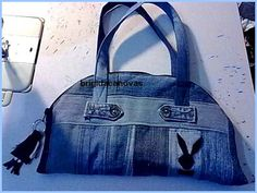 denim bag with your hands