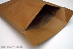 Grocery Sack to envelope