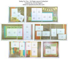 10 pg layout guide scraptabul studio, craft, tutorials, scrapbook layouts, paper, scrapbook idea, dotti, scrapbook sketch, scrapbook pages