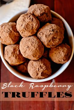 Black Raspberry Truffles ~ With this recipe you can make any ...