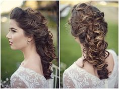 stunning vintage hair for long haired brides! @Sharon Coppock Possible Wedding Hair!!!