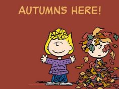Autumn's Here!! favorit time, cant wait, autumn, fall time, charli brown, snoopi, halloween, favorit season, peanut gang
