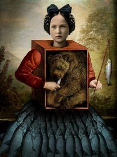 'After The Hunt' by by German-born, Malaysia-based artist & graphic designer Catrin Welz-Stein. Digital collage. via Artsy Forager