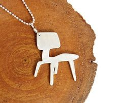 Eames LCW chair necklace by tiderdesign