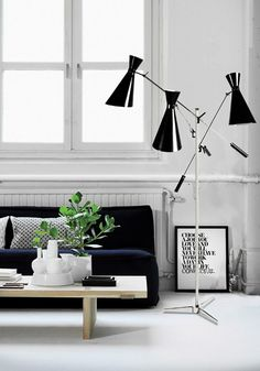 STANLEY | FLOOR STANDING LAMP | DELIGHTFULL - UNIQUE LAMPS  | mid-century modern lighting, stilnovo lamps, vintage floor lamps