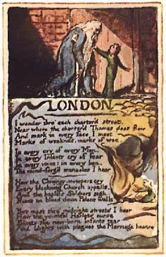 "Blake's ""London""- William Blake's illuminated ""London"" from The Songs of Experience"