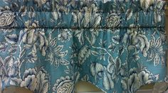 "Perdido Cambridge Valance 50"" w x 18""l. Available in 2 colors Aqua (as shown) & Spa. @ $54.99. To Order Call toll-free 877-722-1100"