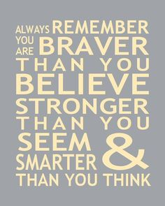Print Christopher Robin Pooh Quote You Are Smarter Than You Think Inspirational Typography Nursery Art.