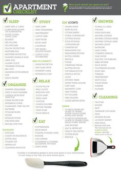 """Bed Bath & Beyond 2013 First Apartment Checklist.  never hurts to have a reference of """"essentials"""""""