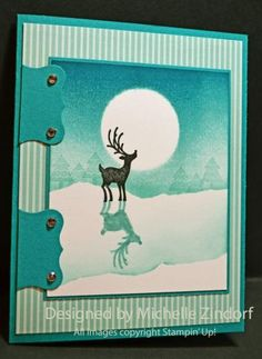 photo tutorial, markers, tutori 552, layout, aqua, paper crafts, cards, michell zindorf, deer shadow
