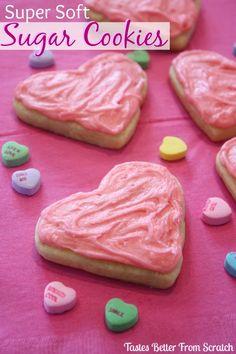 Super Soft Valentine Sugar Cookies on MyRecipeMagic.com (from Tastes Better From Scratch)