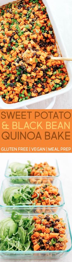 Sweet Potato & Black Bean Quinoa Bake - Eat Yourself Skinny