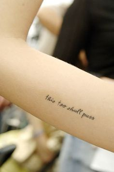 short quote tattoo for girls