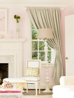 Perking Up a Room With Drop Cloth Curtains. Lots of great ideas.
