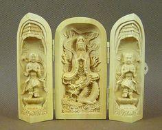 Kuan Yin and Dragon portable Shrine