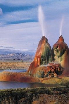 Fly Geyser in Nevada.