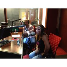 """Amy from TrueTV """"Lizard Lick"""" and Marcus Smith from Charlotte Motor Speedway on-air with me at the PRN studio.--  Love some Marcus"""