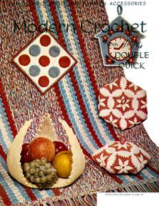 Kitchen Rug crochet pattern from Modern Crochet, originally published by Lily Mills Company, Book 75, in 1954.