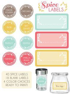 kitchen spice labels