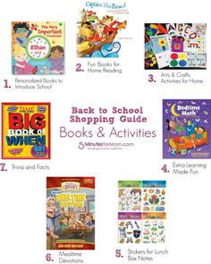 Back to School Shopping Guide - Books and Activities