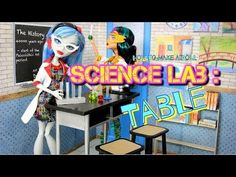 ▶ How to Make a Doll Science Lab: Table with Accessories - YouTube