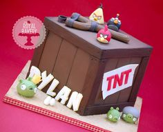 The Royal Bakery - Angry Birds TNT Crate Cake. Original design by The Designer Cake Company.