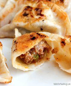 Chorizo & Andouille Potstickers #appetizer #football