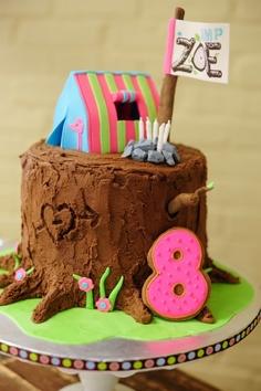 Camp Birthday cake