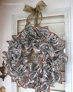 Gorgeous wreath....that's made from napkins! Insanely cool!