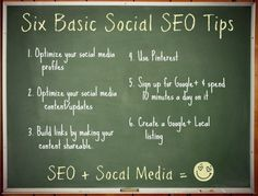 6 Uncomplicated Social SEO Tips for Small Businesses. More SEO help at http://getonthemap.us/search-engine-optimization #573tips