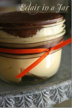 Eclair in a jar