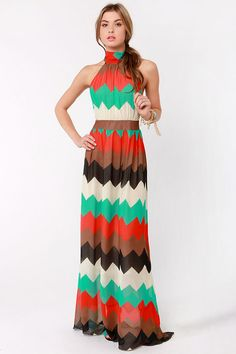 Lovely Striped Dress - Maxi Dress - Red Dress - $76.00