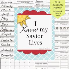 Latter-Day Chatter: 2015 Primary Presidency Planner 4 covers to choose from!! Black and white pages or splash of color pages!!