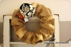 DIY Ruffled Burlap Wreath DIY Burlap DIY Crafts