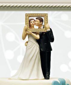 """""""Picture Perfect"""" Couple Figurine Cake Topper"""