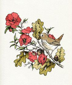 Floral + fauna #tattoo #idea
