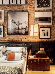 brick with large photo display