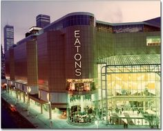 Always such a treat to shop at Eaton's in Toronto...best department store in Canada.