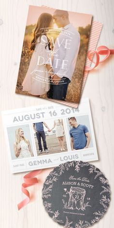 Unique Save the Date cards from Minted.com
