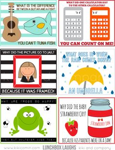 Loving these lunchbox laughs! Perfect for kid's or spouse lunch!