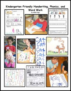 """Kindergarten-Friendly Handwriting, Phonics, and Word Work"" by Nellie Edge is an integrated multisensory approach to teaching handwriting that encourages art and authentic writing practice."
