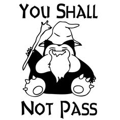 You Shall Not Pass Pokemon Snorlax Gandalf Funny Decal Sticker on Etsy, $5.00