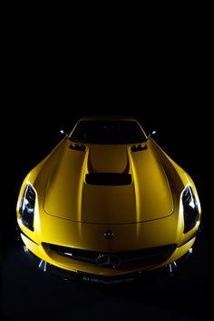 Mercedes SLS Amg yellow Edition #Mercedes